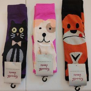 Animal socks x 3 pairs